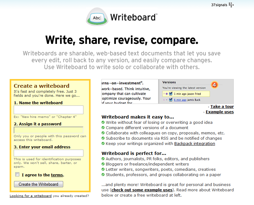 Tech Tools: WriteBoard for Client Collaboration