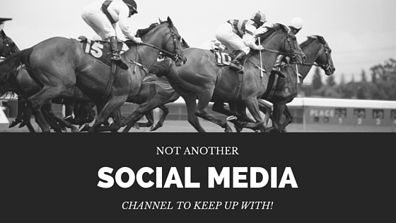 Not another social media channel to keep up with